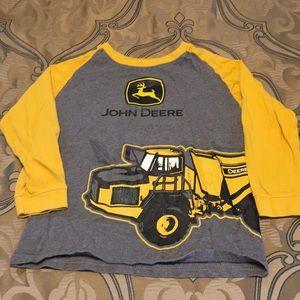 🛑 Boys Long Sleeve John Deere Shirt